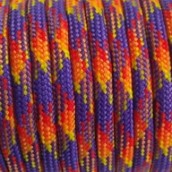 Paracord (Паракорд) 550 - Purple yellow red camo